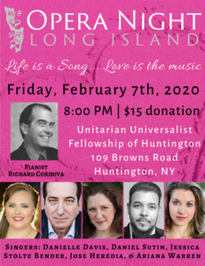 Opera Night - Long Island @ UUFH